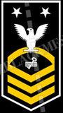 Disbursing Clerk (DK) U.S. Navy Rating Badge Insignia Master Chief White Gold