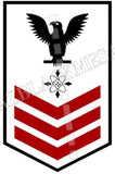 Data Systems Technician (DS) U.S. Navy Rating Badge Insignia First Class Black Red