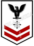 Data Systems Technician (DS) U.S. Navy Rating Badge Insignia Second Class Black Red