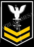 Data Systems Technician (DS) U.S. Navy Rating Badge Insignia Second Class White Gold