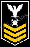 Explosive Ordnance Disposal Technicians (EOD) U.S. Navy Rating Badge Insignia First Class White Gold