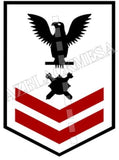 Explosive Ordnance Disposal Technicians (EOD) U.S. Navy Rating Badge Insignia Second Class Black Red