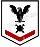 Explosive Ordnance Disposal Technicians (EOD) U.S. Navy Rating Badge Insignia Third Class Black Red