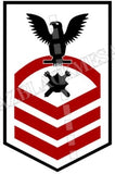 Explosive Ordnance Disposal Technicians (EOD) U.S. Navy Rating Badge Insignia Chief Black Red