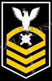 Explosive Ordnance Disposal Technicians (EOD) U.S. Navy Rating Badge Insignia Chief White Gold