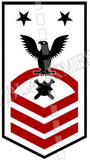 Explosive Ordnance Disposal Technicians (EOD) U.S. Navy Rating Badge Insignia Master Chief Black Red
