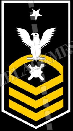 Explosive Ordnance Disposal Technicians (EOD) U.S. Navy Rating Badge Insignia Senior Chief White Gold