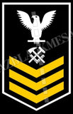 Hull Maintenance Technician (HT) U.S. Navy Rating Badge Insignia First Class White Gold
