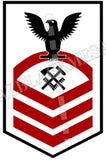Hull Maintenance Technician (HT) U.S. Navy Rating Badge Insignia Chief Black Red