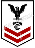 Interior Communications Electrician (IC) U.S. Navy Rating Badge Insignia Second Class Black Red