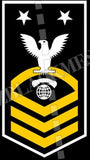 Interior Communications Electrician (IC) U.S. Navy Rating Badge Insignia Master Chief White Gold