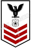 Master-At-Arms (MA) U.S. Navy Rating Badge Insignia First Class Black Red