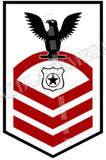 Master-At-Arms (MA) U.S. Navy Rating Badge Insignia Chief Black Red