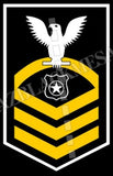 Master-At-Arms (MA) U.S. Navy Rating Badge Insignia Chief White Gold