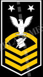 Personnelman (PN) U.S. Navy Rating Badge Insignia Master Chief White Gold