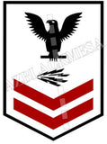 Information System Technician (IT) U.S. Navy Rating Badge Insignia Second Class Black Red