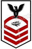 Information System Technician (IT) U.S. Navy Rating Badge Insignia Chief Black Red
