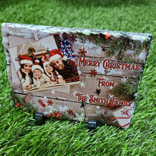15CM X 20CM Christmas greeting PHOTO SLATE - Don't take it personal
