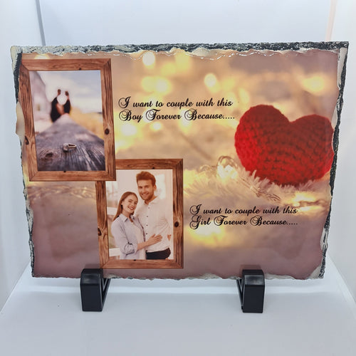 15CM X 20CM Commemorative engagement / wedding PHOTO SLATE - Don't take it personal