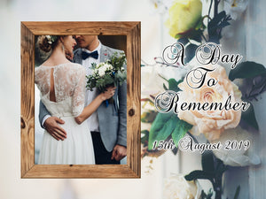 15CM X 20CM Commemorative Wedding Day PHOTO SLATE - Don't take it personal