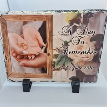 Load image into Gallery viewer, 15CM X 20CM Commemorative Wedding Day PHOTO SLATE