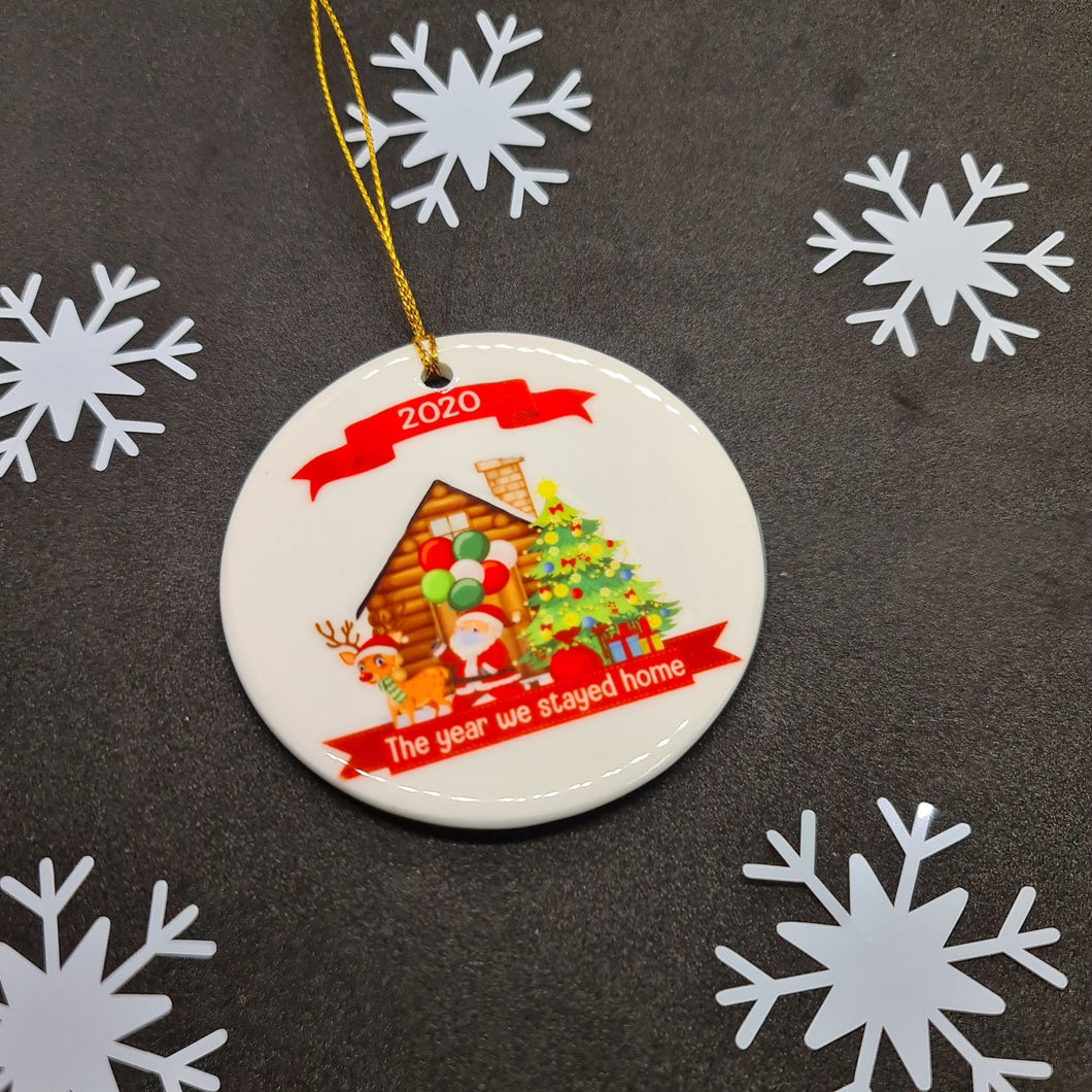2020 Christmas at home round ceramic ornament - Don't take it personal