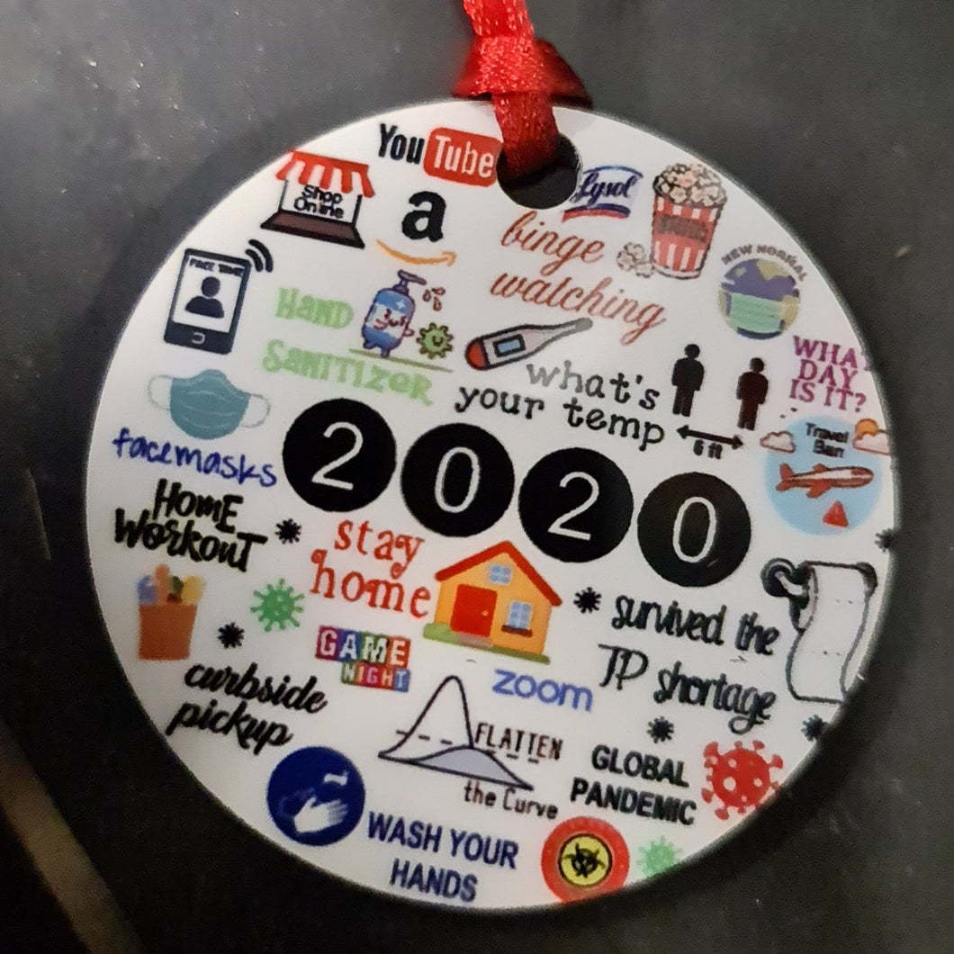 2020 round Wooden ornament - Don't take it personal