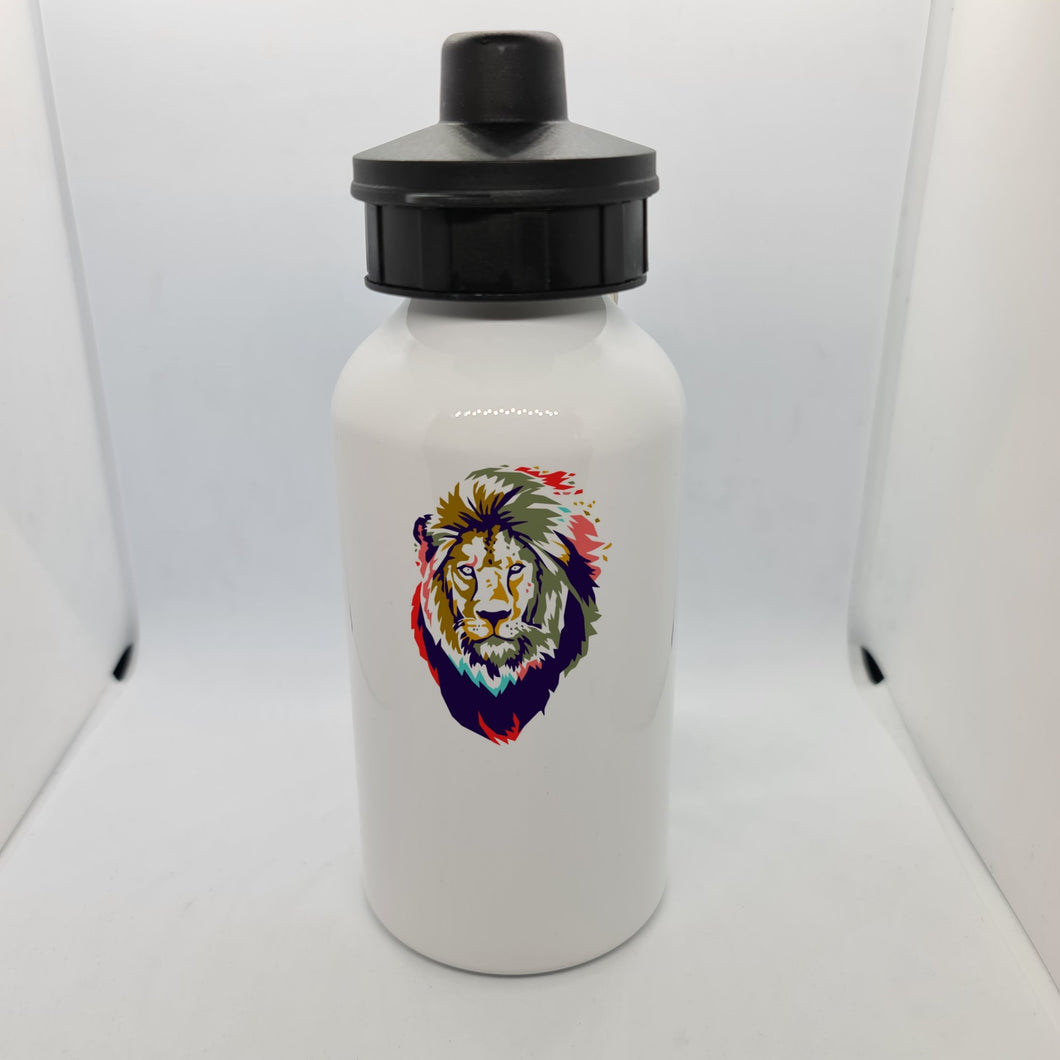 Abstract Lion Aluminium 400ml Water bottle - Don't take it personal