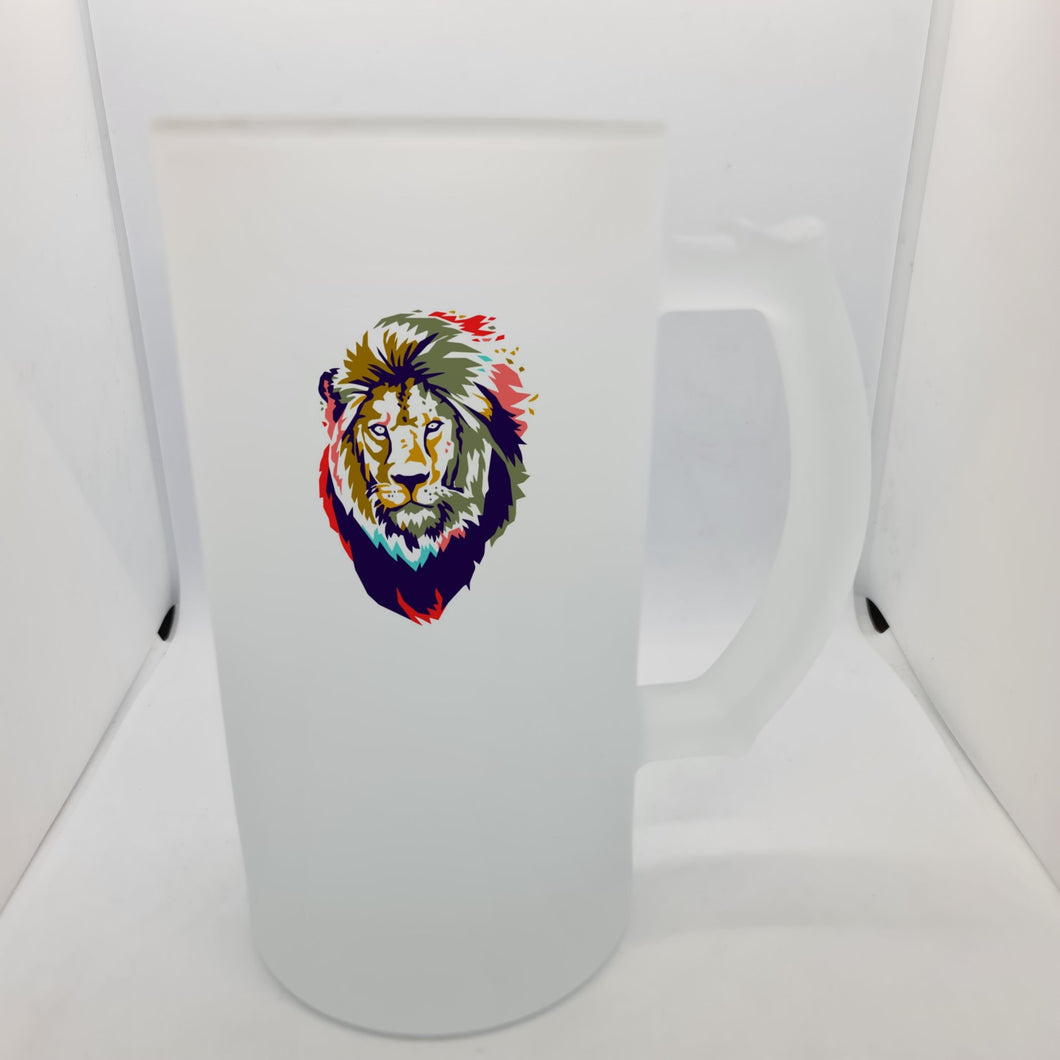 Abstract Lion Beer Glass - Don't take it personal