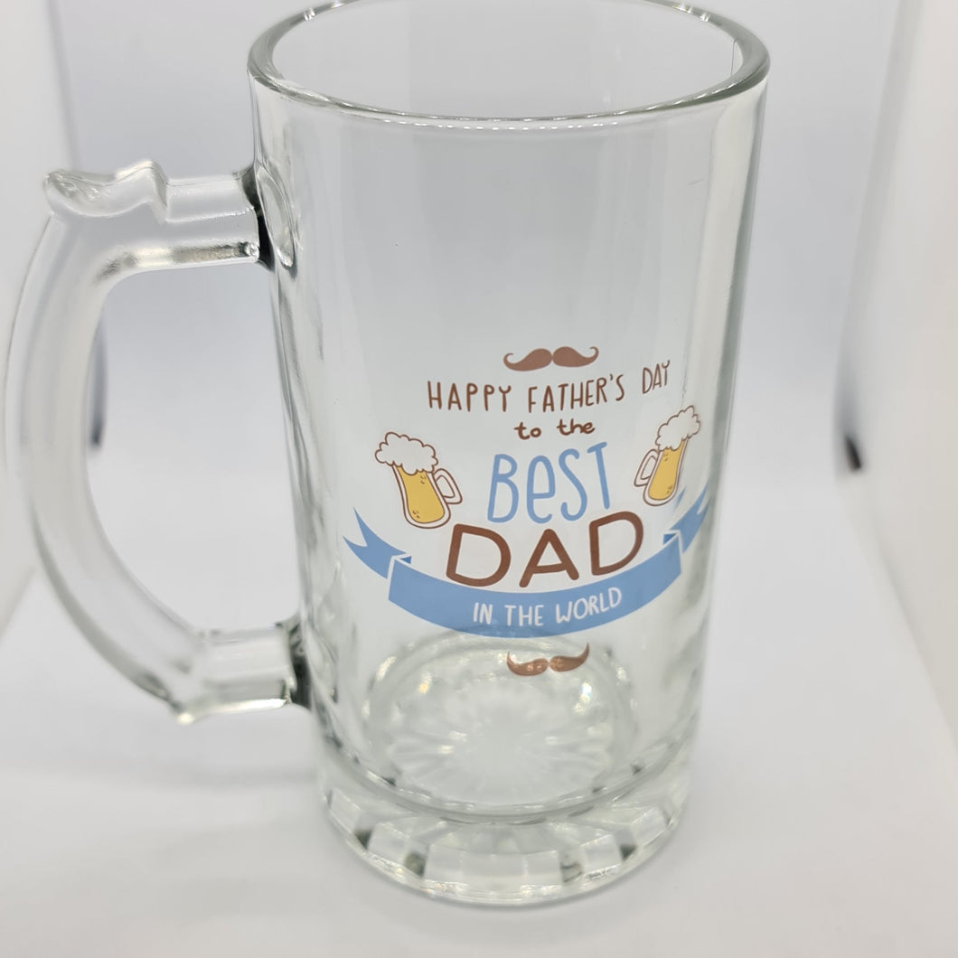 Personalised Beer stein - Clear Glass - Don't take it personal