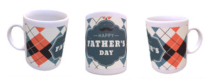 Blue and orange check Fathers Day mug - Don't take it personal