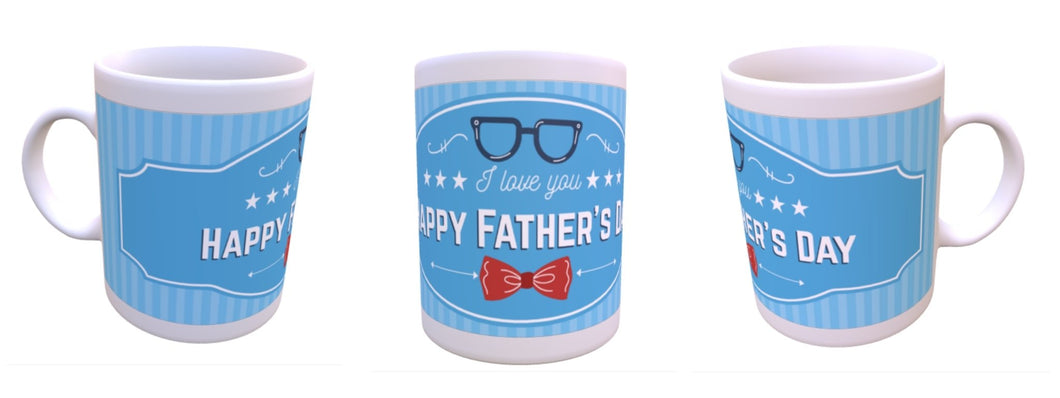 Blue with red bow tie Fathers Day mug - Don't take it personal