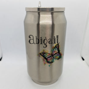 Butterfly Personalised Double Wall Stainless Steel Can - Don't take it personal