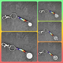 Load image into Gallery viewer, Chakra style gemstone keyring - Don't take it personal