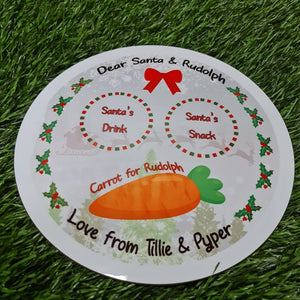 Christmas Eve Santa's plate round placemat - Don't take it personal