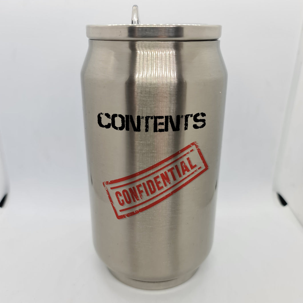 Confidential Double Wall Stainless Steel Can - Don't take it personal