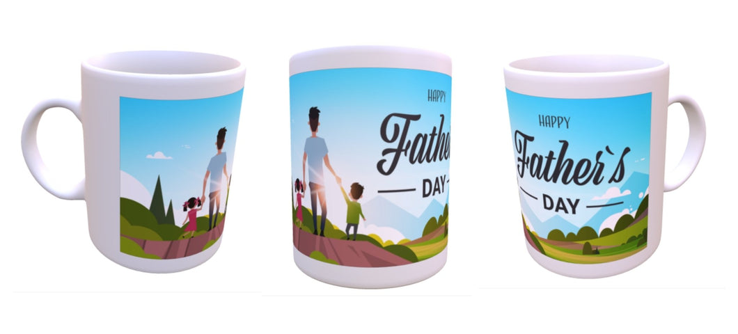 Dad with kids Fathers Day mug - Don't take it personal
