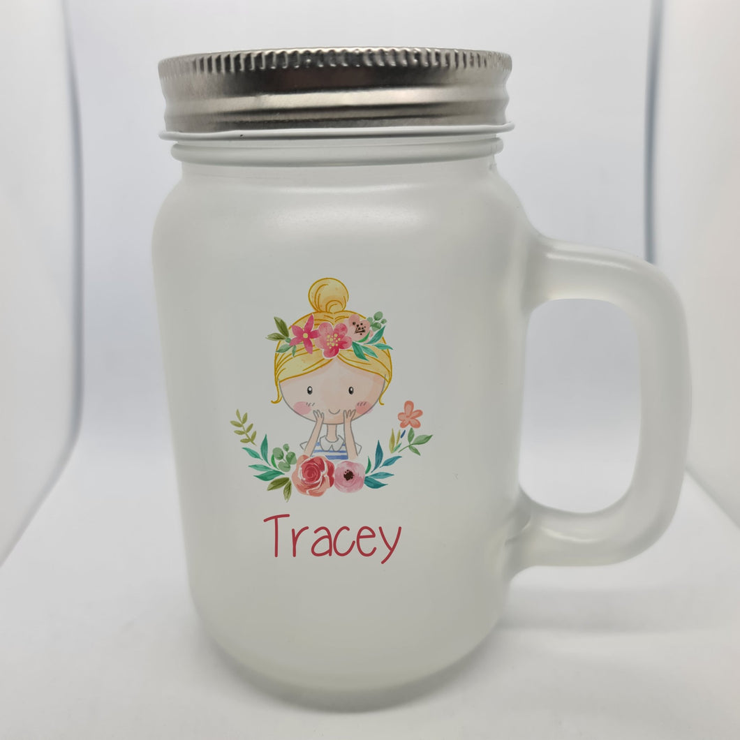 Flower girl Mason Jar - Don't take it personal