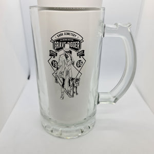 Grave Digger Beer Glass - Don't take it personal