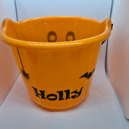 Halloween personalised bucket with sweets - Don't take it personal