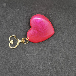 Heart resin keyring - Don't take it personal