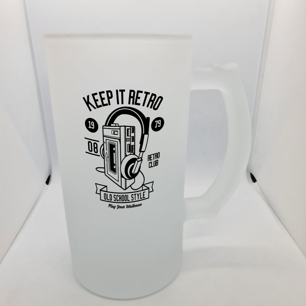 Keep it retro Beer Glass - Don't take it personal