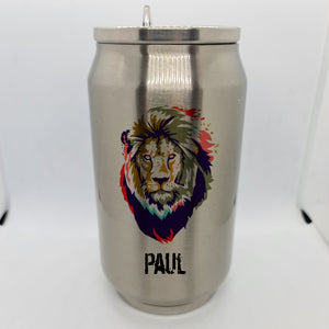 Lion abstract Double Wall Stainless Steel Can - Don't take it personal