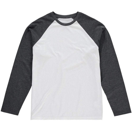 Long sleeve Baseball Tee Charcoal- custom create your own - Don't take it personal