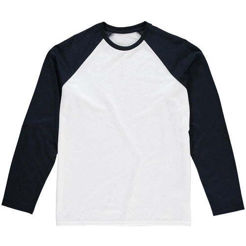 Long sleeve Baseball Tee Navy - custom create your own - Don't take it personal
