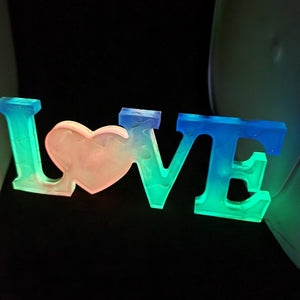 Love resin sign with LED's and glow in the dark! - Don't take it personal
