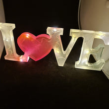 Load image into Gallery viewer, Love resin sign with LED's and glow in the dark! - Don't take it personal