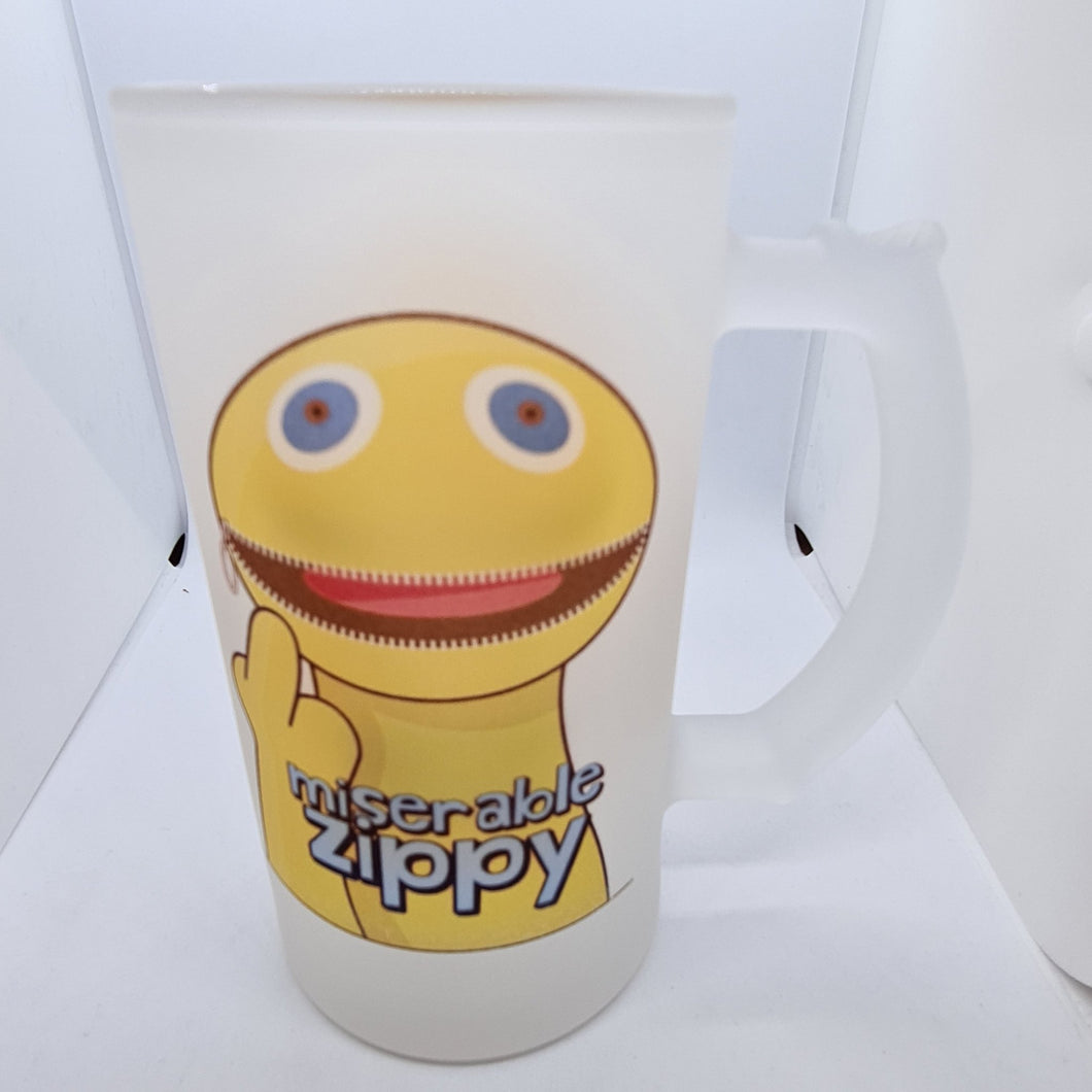 Miserable zippy beer glass - Don't take it personal