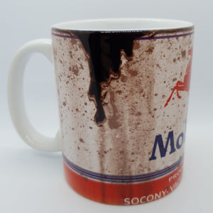 Mobil oil can mug - Don't take it personal