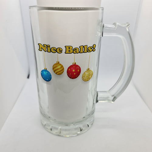 Nice balls Beer Glass - Don't take it personal